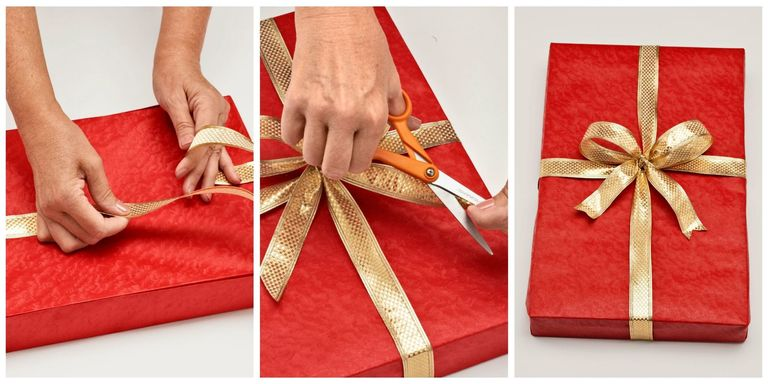 How to wrap a gift wrapping a present step by step instructions just in time for the holidays macys gift wrapping expert belle wesel demonstrates the definitive way use double sided tape negle Images