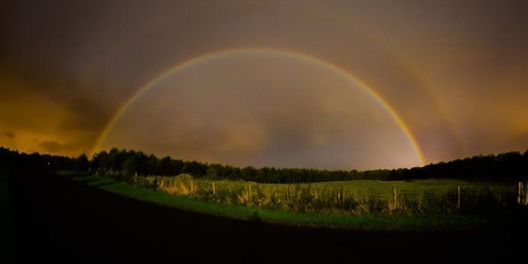 """Photographer Captures Rare (and Stunning) """"Moonbow"""" in England"""