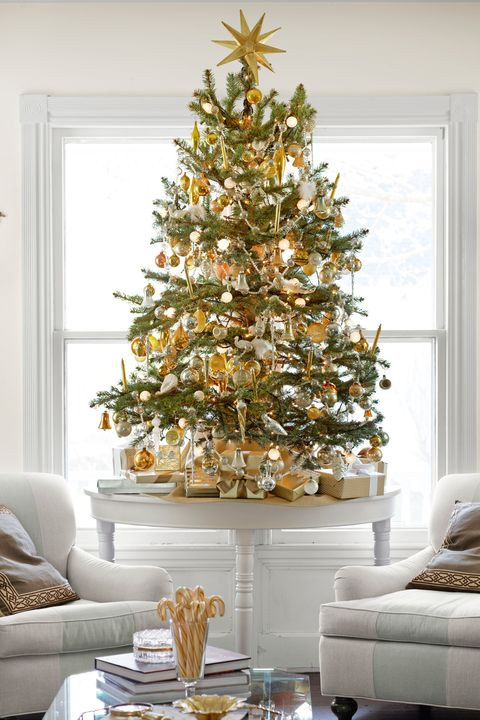 gold christmas tree