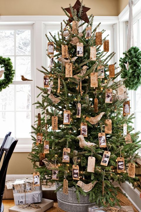 diy tag ornaments christmas tree