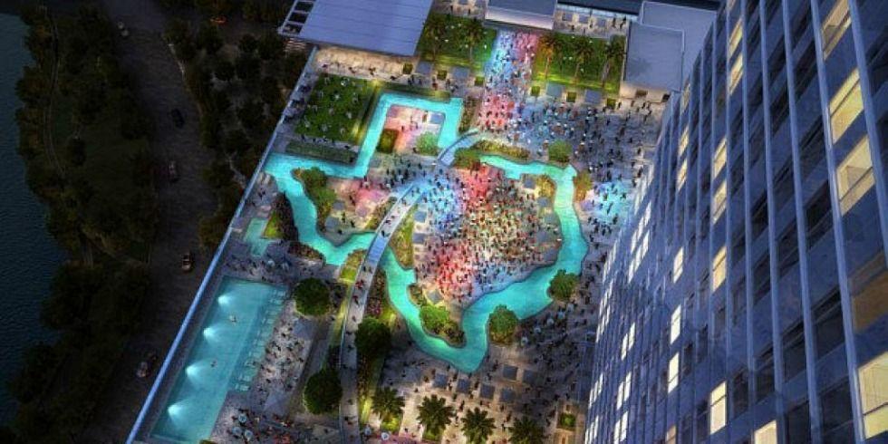 Marriott Marquis Houston Texas Pool Texas Lazy River
