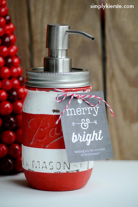 christmas mason jar soap dispenser craft