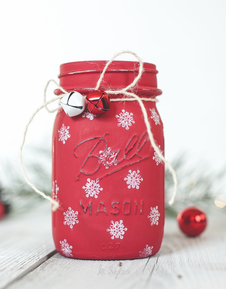 47 mason jar christmas crafts fun diy holiday craft projects