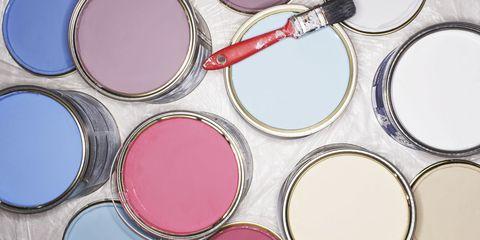 Pink, Purple, Magenta, Paint, Cosmetics, Tints and shades, Violet, Circle, Eye shadow, Camera accessory,