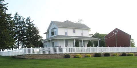 Grass, House, Property, Home, Land lot, Real estate, Roof, Home fencing, Residential area, Building,