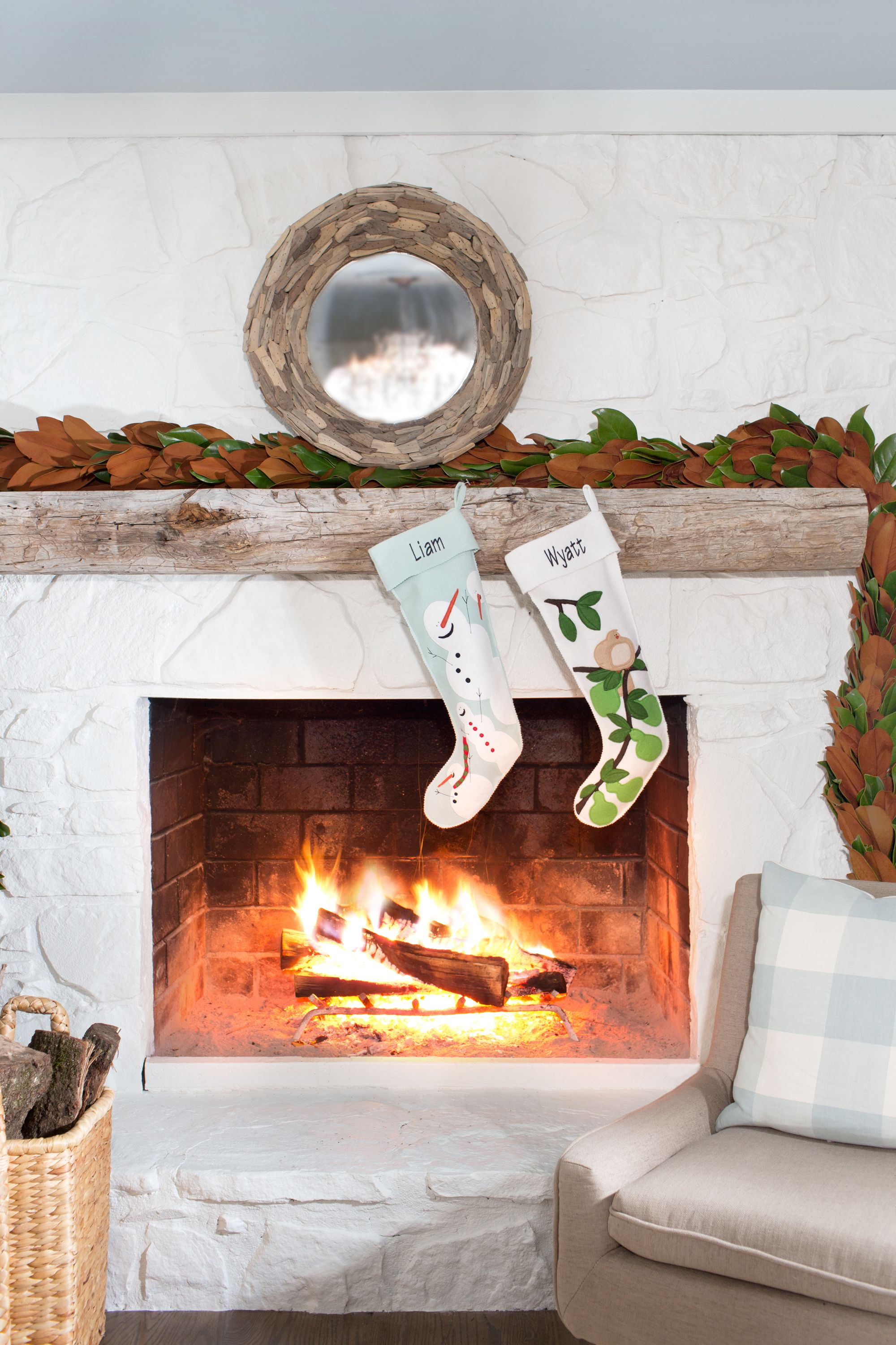 stocking together in on fireplace inspiration christmas captivating mg decoration with stockings holders