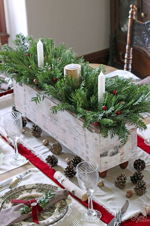 planter christmas table settings centerpieces