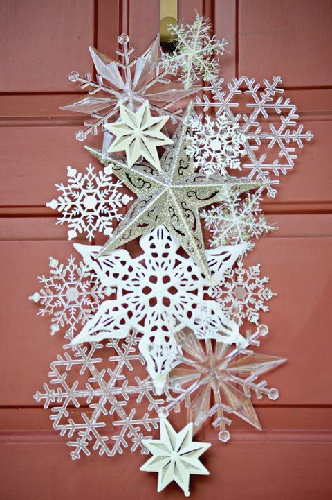 snowflake christmas door decoration