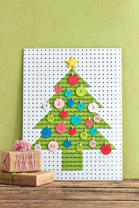pegboard adventure christmas calendar craft