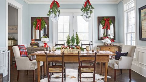 110 Country Christmas Decorations - Holiday Decorating Ideas 2018 on cute home office designs, best home office designs, rustic home office designs,