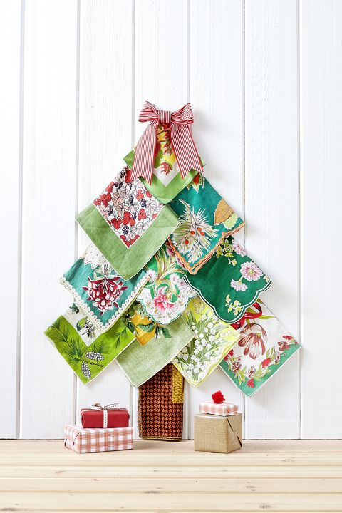 Vintage Hankie Christmas Tree Craft