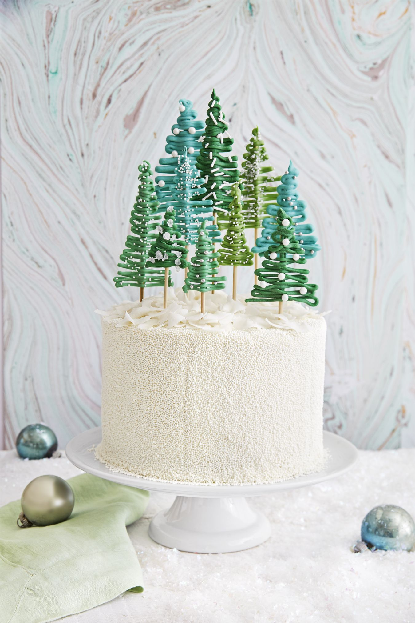 Best Pine Tree Cake Recipe - How To Make Christmas Tree Cake ...