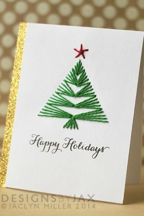 20 Diy Christmas Card Ideas Easy Homemade Christmas Cards We Re