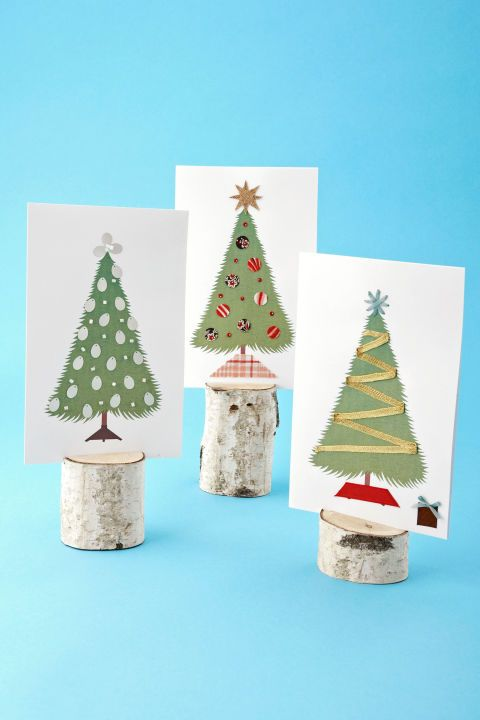 17 diy christmas card ideas easy homemade christmas cards were handmade christmas tree cards solutioingenieria Images