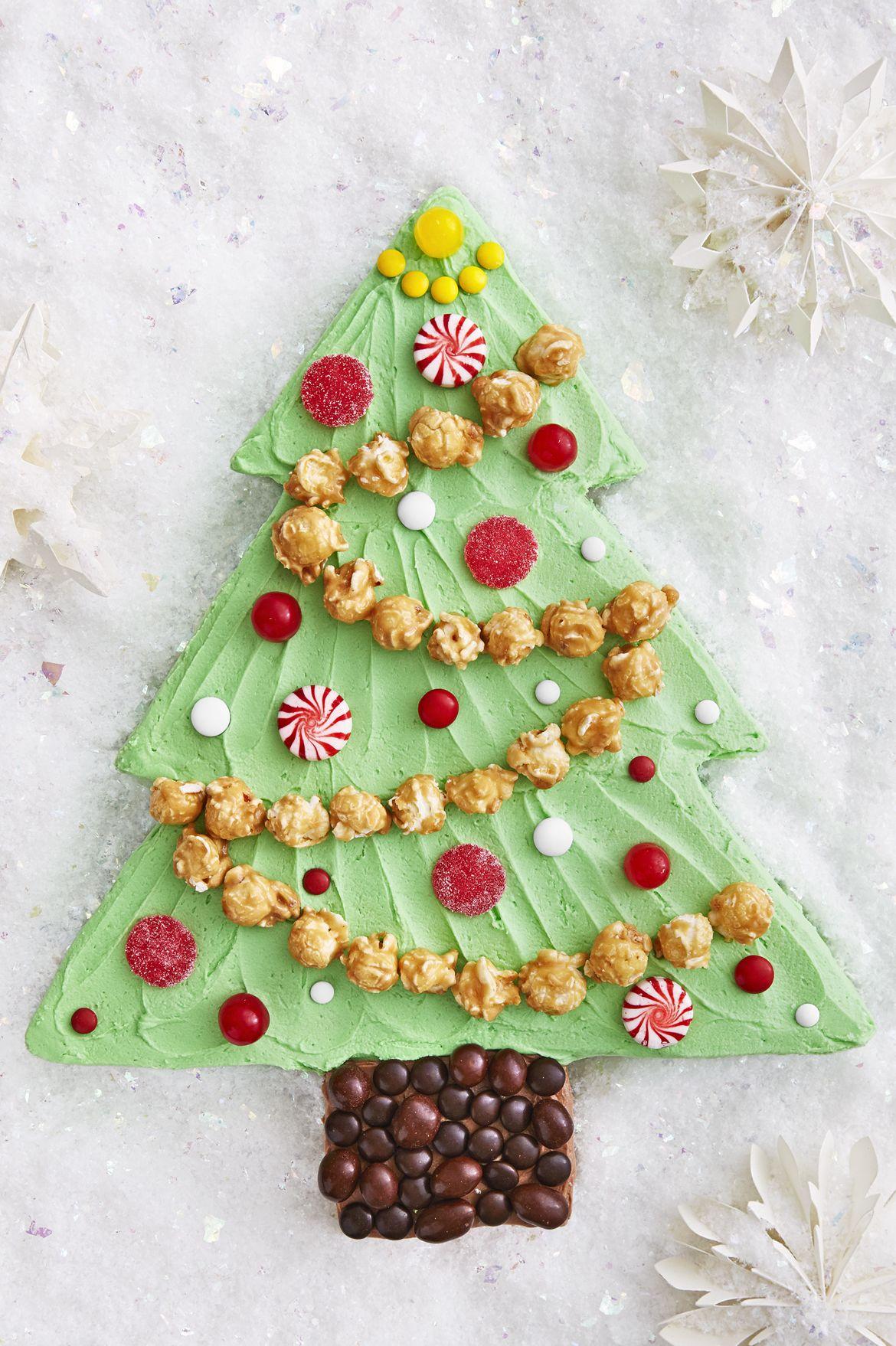 christmas tree sheet cake