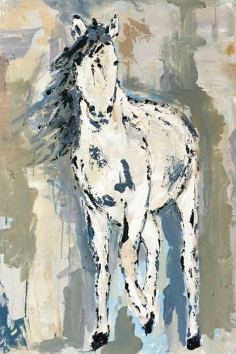 Vertebrate, Horse, Paint, Watercolor paint, Art, Art paint, Artwork, Working animal, Liver, Painting,