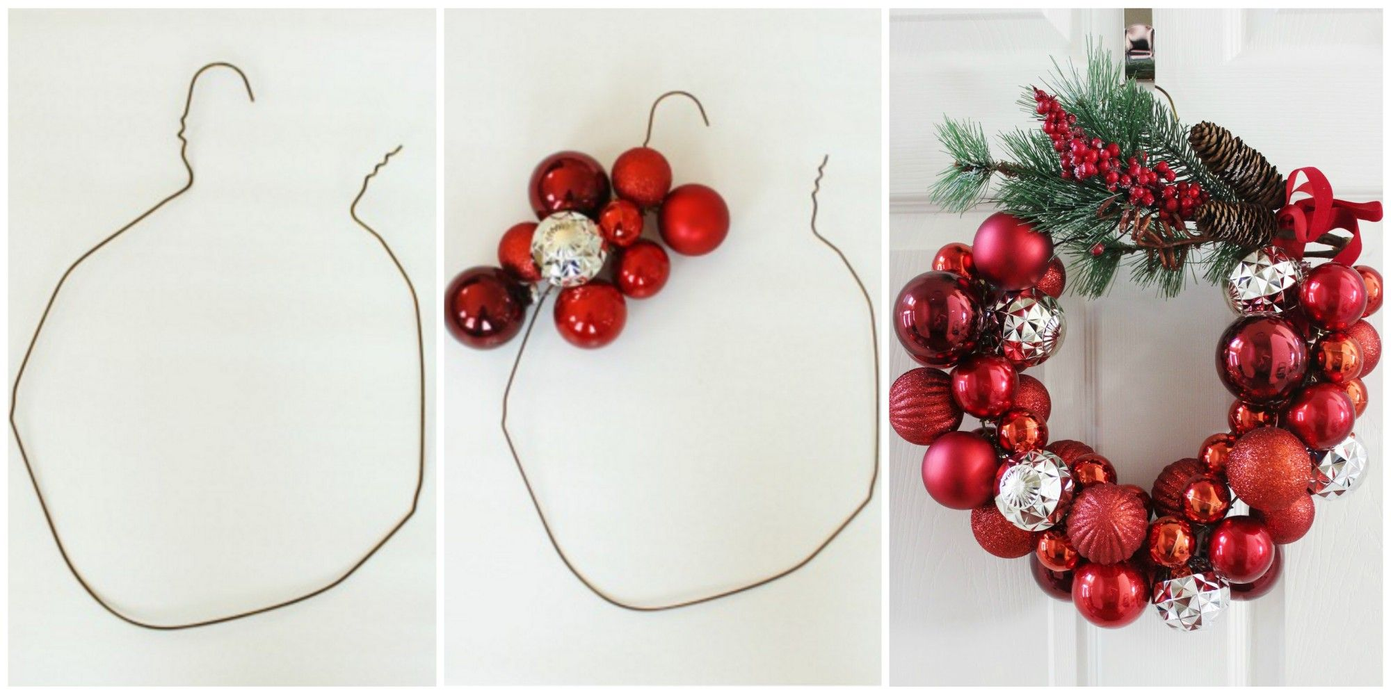 How to Make a Christmas Wreath With a Wire Hanger - DIY Holiday Ideas