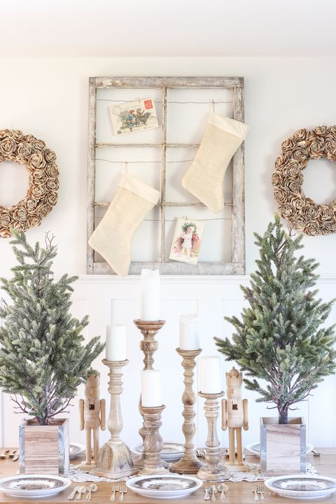 courtesy of love grows wild farmhouse christmas dining room - Farmhouse Christmas Decorating Ideas