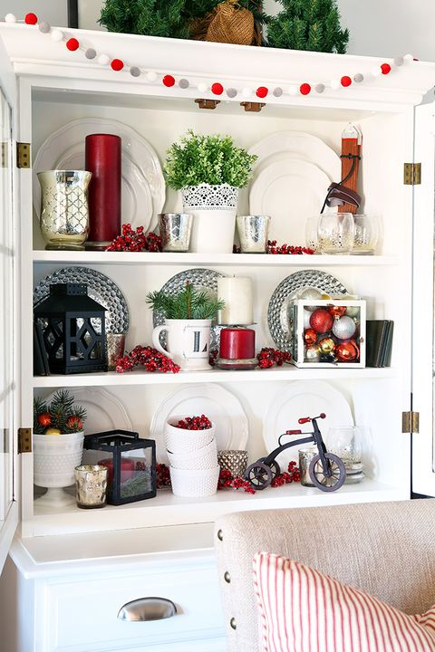 Interior design, Room, Red, White, Dishware, Serveware, Interior design, Porcelain, Shelving, Shelf,