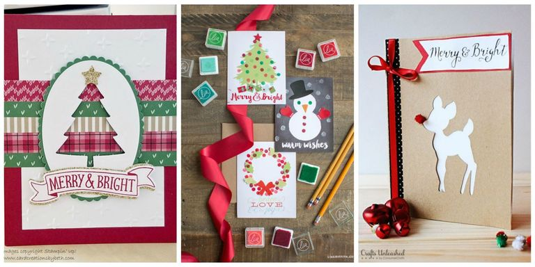 15 diy christmas card ideas easy homemade christmas cards were these colorful and unique homemade card designs are fun and easy to make m4hsunfo