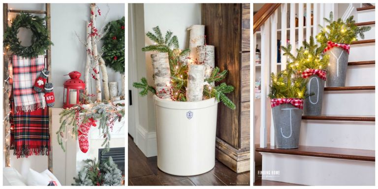 Farmhouse Christmas Decorating Ideas - Holiday Decorating Ideas from ...