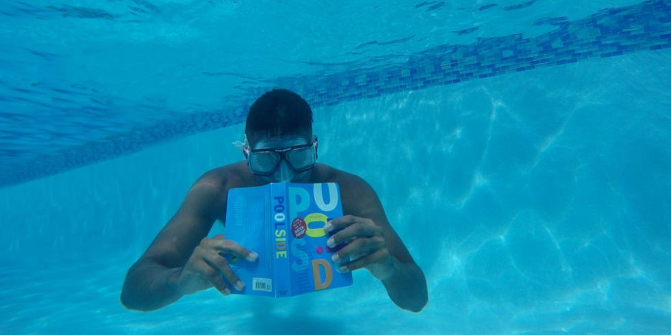 Waterproof Books For The Pool Reading A Book Underwater