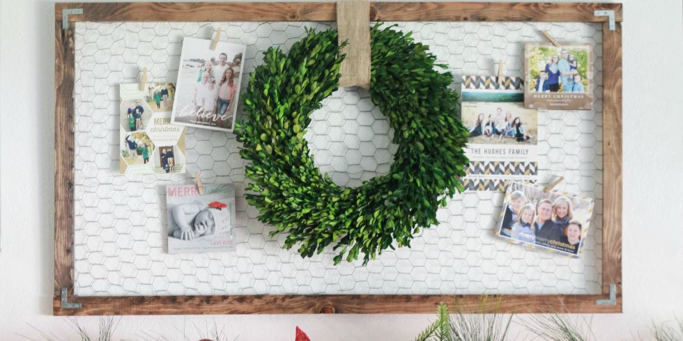 DIY Holiday Card Display - How to Display Christmas Cards