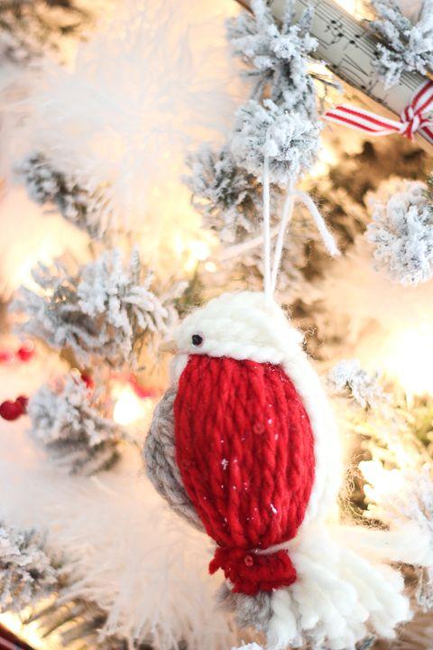 Yarn Bird Ornament