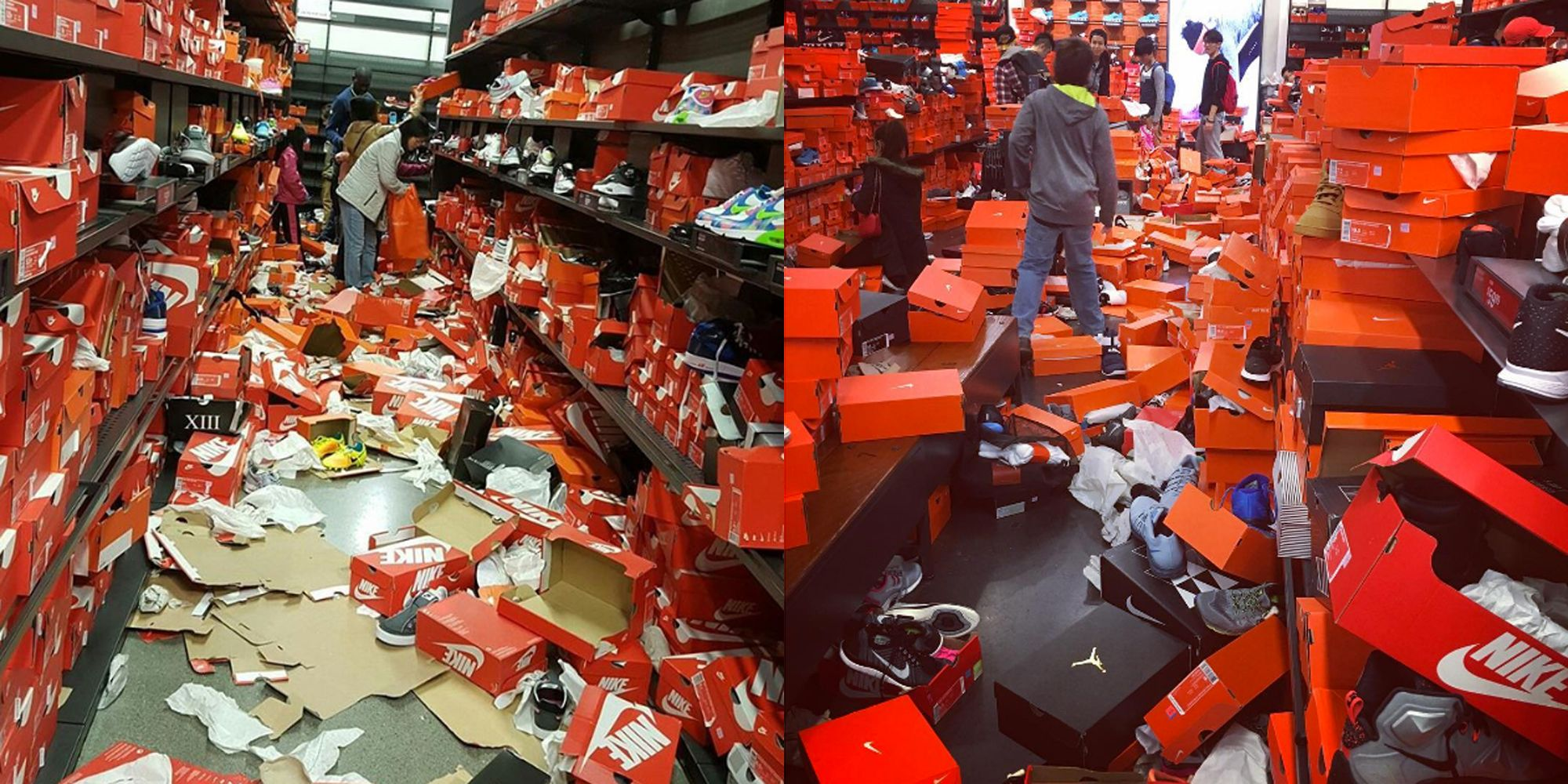 e948af719dc0 Black Friday Shoppers Rip Apart Nike Factory Store in Tulaip