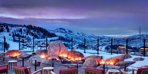 Winter, Mountain range, Furniture, Mountain, Hill station, Heat, Evening, Snow, Freezing, Slope,