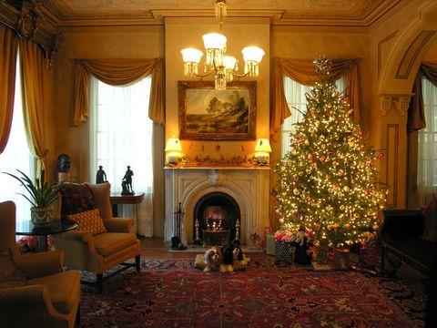 Lighting, Interior design, Room, Interior design, Home, Living room, Floor, Flooring, Ceiling, Christmas tree,