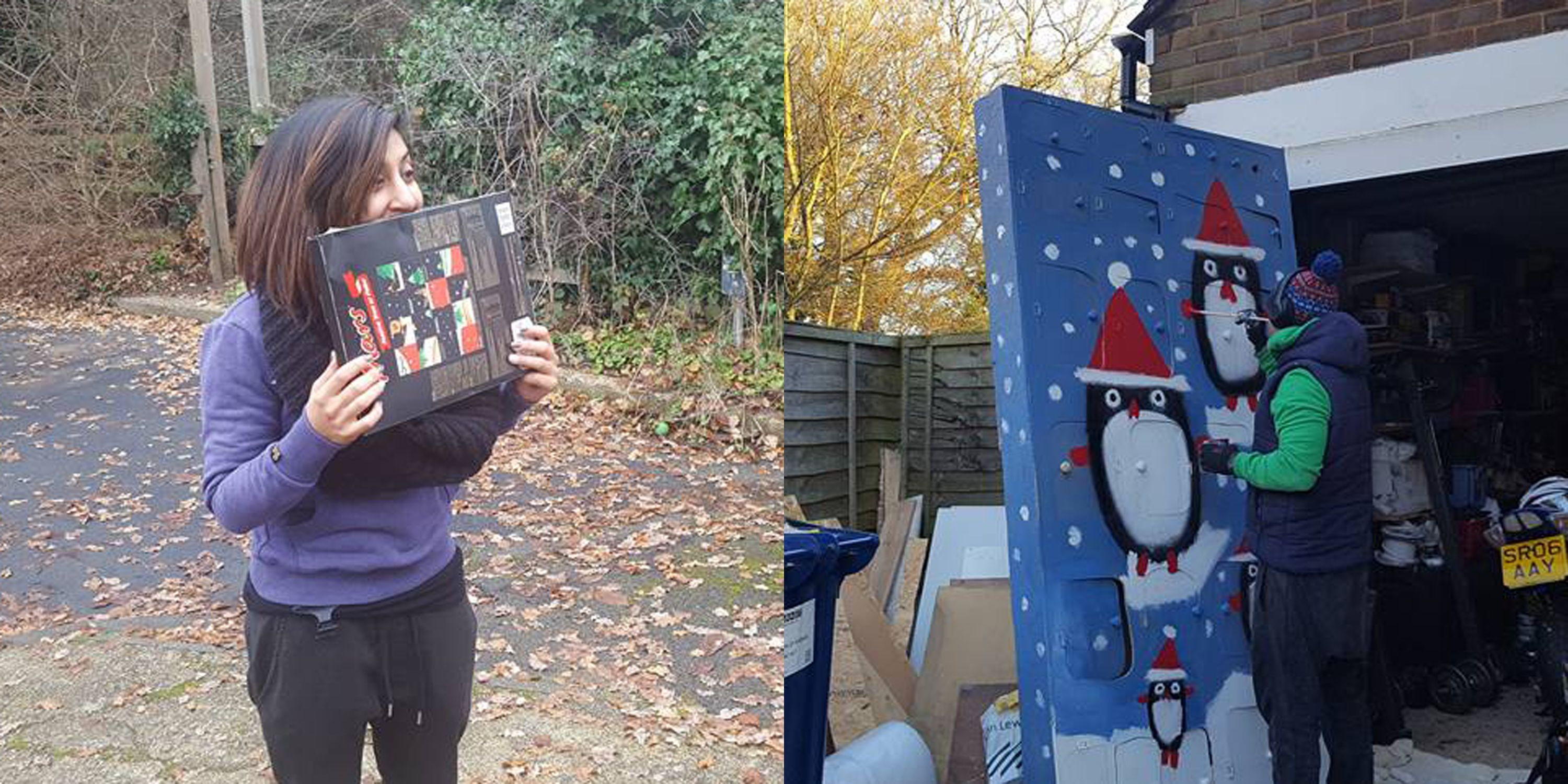 This Sweet Husband Built a 7-Foot-Tall Advent Calendar and Filled It With Gifts for His Wife