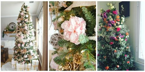 Petal, Christmas decoration, Interior design, Flower Arranging, Floral design, Creative arts, Christmas, Floristry, Christmas tree, Peach,