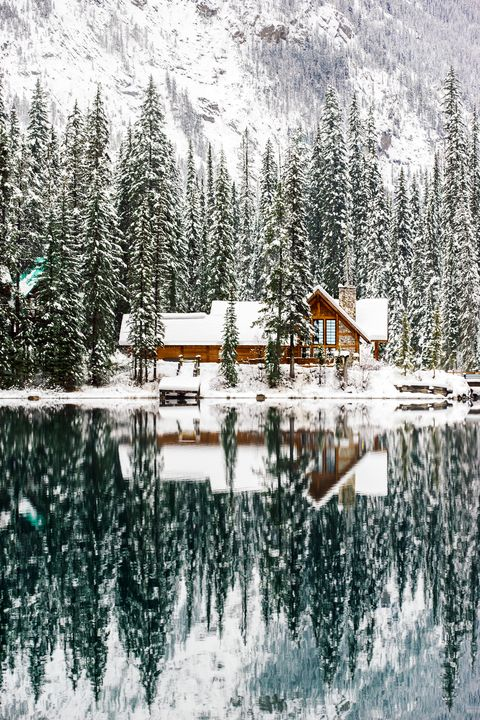 Winter, Reflection, House, Pond, Snow, Freezing, Hill station, Rural area, Lake, Village,