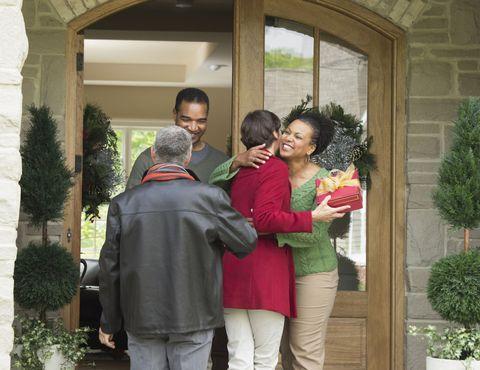 Interaction, Jacket, Shrub, Love, Holiday, Evergreen, Hug, Conifer, Handbag, Annual plant,