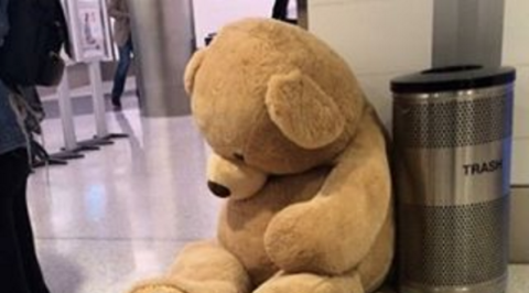 Stuffed toy, Toy, Product, Brown, Yellow, Plush, Textile, Floor, Baby toys, Terrestrial animal,