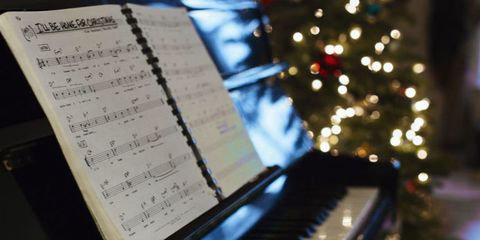 Music, Sheet music, Christmas decoration, Notebook, Document, Ornament, Classical music, Paper,
