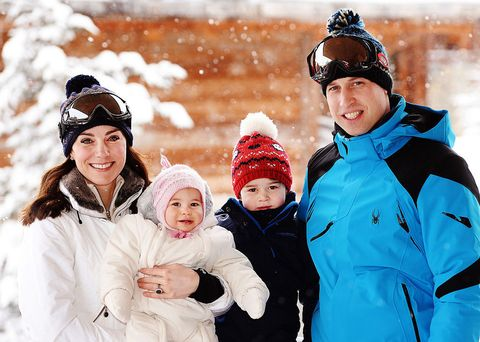 William and Kate in the French Alps