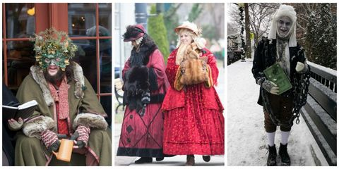 Winter, Textile, Hat, Headgear, Costume design, Costume accessory, Costume, Fashion, Street fashion, Fur clothing,