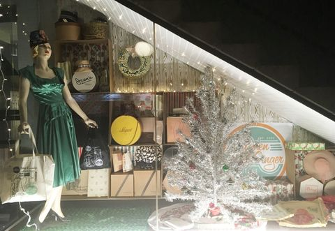 Shop With Vintage Department Store Window Display 1960s