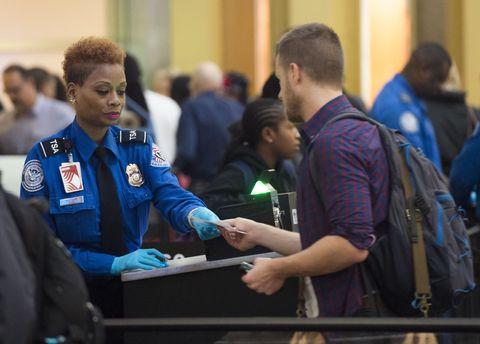 TSA agent at airport