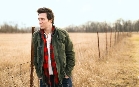 Jacket, Sleeve, Outerwear, Field, People in nature, Grassland, Farm, Denim, Agriculture, Prairie,