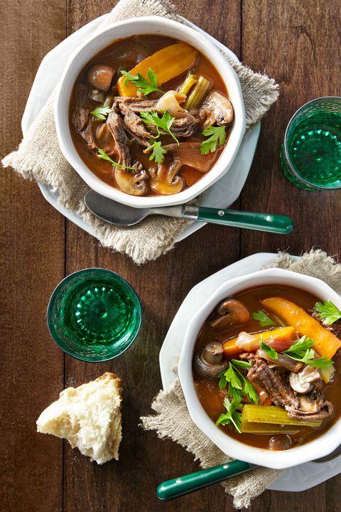 Food, Soup, Cuisine, Dish, Tableware, Stew, Ingredient, Recipe, Meat, Spoon,