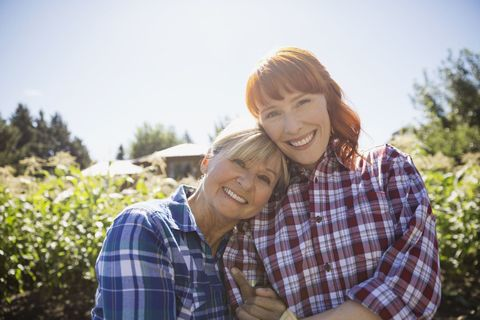 Plaid, Smile, Sleeve, Tartan, Shirt, Dress shirt, Happy, Pattern, Facial expression, People in nature,