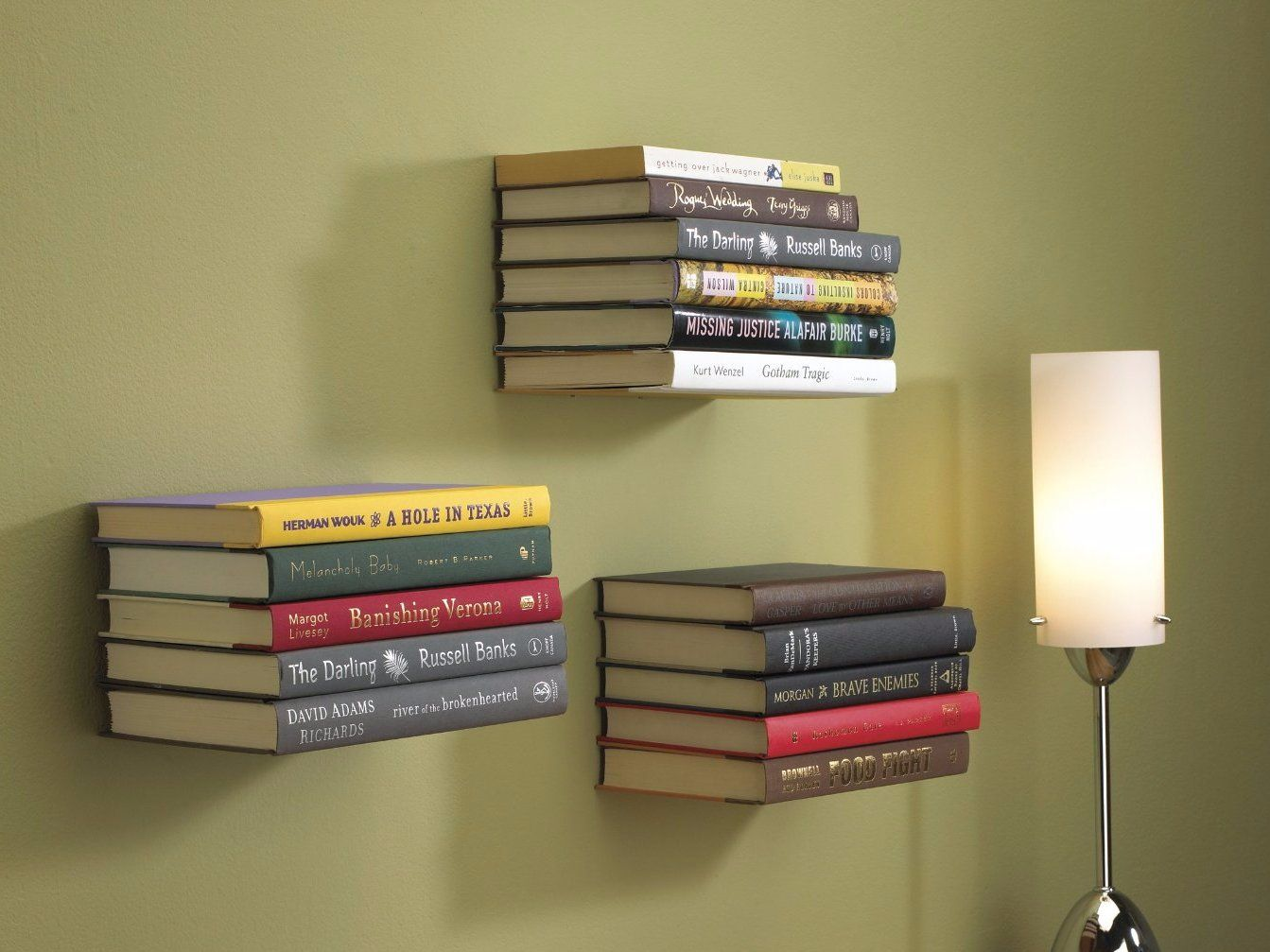 how to make diy floating shelves out of your old books floating rh countryliving com