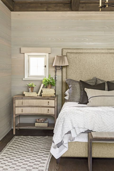 Cozy Bedroom Ideas   Wood Headboard