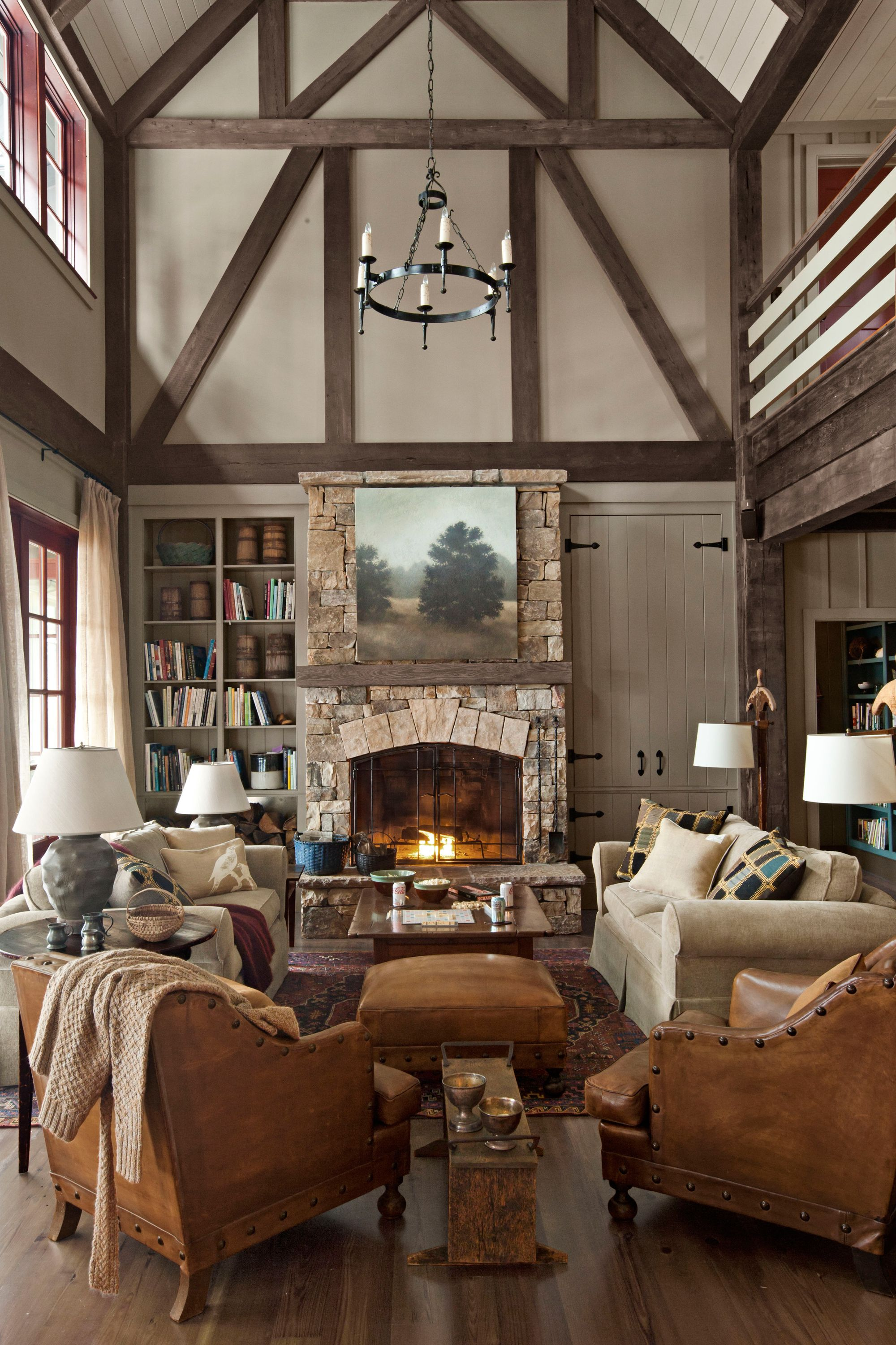 homey ideas fireplace designs.  30 Cozy Living Rooms Furniture and Decor Ideas for