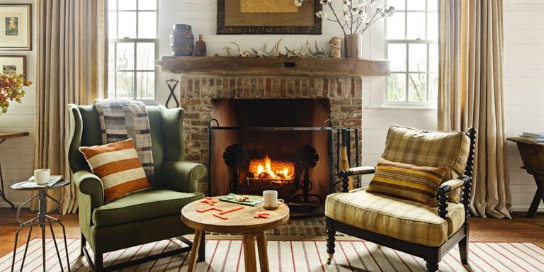 cozy living rooms winter decorating ideas - Design Ideas For Living Rooms With Fireplace