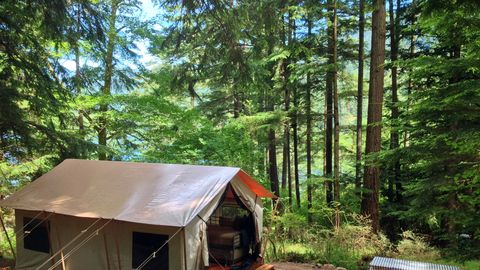 "<p>Tell your friends and fam to dream on about texting you for a few days: you don't get more off-the-grid than an island in a state park hideaway on Washington state's San Juan Islands. First up: disconnect from Facebook notifications and reconnect with wilderness in the 5,000-plus acres ripe for exploration and the five freshwater lakes ready to cleanse your body and mind. Watch the morning fog curls its whiskers around the fairytale Evergreens, as you wake up and stretch your arms towards the sky — and 30 miles of hiking trails right outside the<a href=""http://www.stayleanto.com/moran-state-park-glamping/""><u data-redactor-tag=""u""> LEANTO glamping sites</u></a>. Don't skip a sunrise yoga class at the peak of the island's highest point, <a href=""http://moranstatepark.com/mount-constitution/""><u data-redactor-tag=""u"">Mt. Constitution</u></a> or a <a href=""http://www.stayleanto.com/orcas-island-activities/""><u data-redactor-tag=""u"">sea kayaking experience</u></a> that feels equally spiritual thanks to a wide array of bird species and that famous island fog hovering over the forest. Feeling sluggish? Pampering awaits less than a half-hour away at <a href=""http://rosarioresort.com/spa/""><u data-redactor-tag=""u"">Rosario Resort and Spa</u></a> with therapeutic body wraps, healing stones, and an indoor saltwater pool you'll want to teleport home.<br></p><p><em data-redactor-tag=""em"">For more information, visit </em><a href=""http://www.stayleanto.com""><em data-redactor-tag=""em"">stayleanto.com</em></a><em data-redactor-tag=""em"">.</em> </p><p><em data-redactor-tag=""em""><br></em></p>"