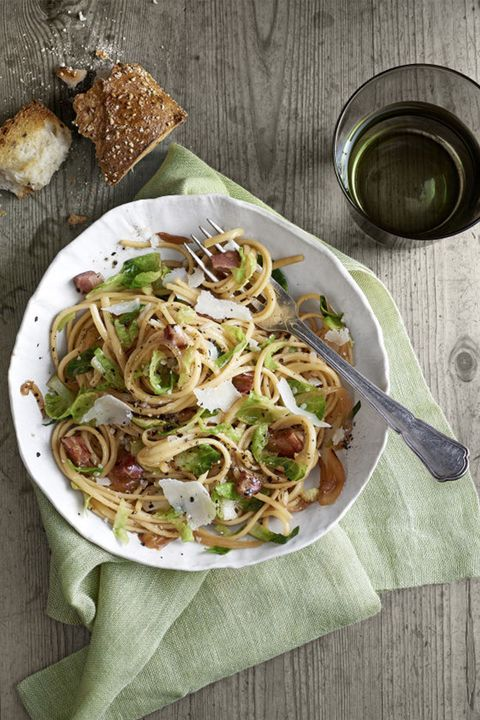 Dish, Food, Cuisine, Ingredient, Karedok, Capellini, Brussels sprout, Carbonara, Noodle, Produce,